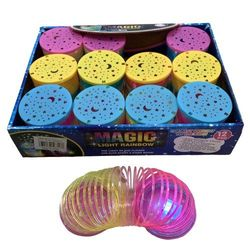 Party Toys Wholesale Bulk Merchandise Distributors - Party Supplies - Kids Toys Games - TY717. 2.75 Magic Spring Toy [Light Up Rainbow]
