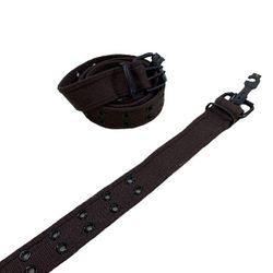 Shop Wholesale Clothing Online Store - Belt--Canvas Belt with Holes (All Sizes) Coffee