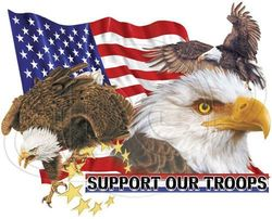 T Shirts Gildan Wholesale Bulk Suppliers Clothing USA - Military Bald Eagle and American Flag T Shirts - MSC Distributors
