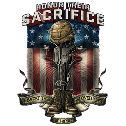 Patriotic T Shirts Bulk Suppliers - Honor Their Sacrifice - 06328HL2