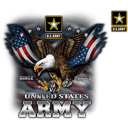 Officially Licensed Men's Army T-Shirts - 19966D1