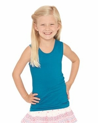 T Shirts Wholesale Bulk Supplier - Blank - LAT - Girls Fine Jersey Tank Top - 2690