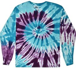Buy Bulk Clearance Items Colortone Wholesale Tie Dye Long Sleeve T-Shirt - Barbados