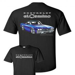 Wholesale Men's Women's American Muscle Car T Shirts Bulk Suppliers - TDC_166N-El-Camino