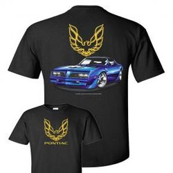 Wholesale Men's Women's American Muscle Car T Shirts Bulk Suppliers - TDC_173N-77-Firebird-Adult
