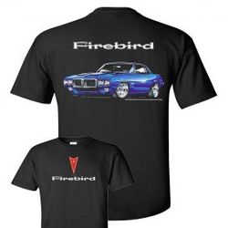 Wholesale Men's Women's American Muscle Car T Shirts Bulk Suppliers - TDC_176N-69-Firebird-Adult