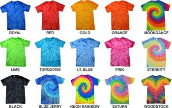 Tie Dye Short Sleeve T Shirts