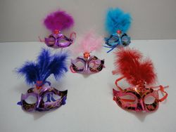 Party Toys Wholesale Masks Suppliers - Party Supplies - Kids Toys Games - TY417. Masquerade Mask--Metallic with Feather