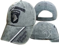 Veteran Baseball Caps Headwear Embroidered, Officially Licensed, Wholesale Bulk Suppliers - CAP626B 101 Airborne Div Cap OD