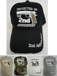 Wholesale Military Patriotic Veteran Hats Caps Bulk Suppliers - HT735. PROTECTED BY THE 2nd AMENDMENT Hat