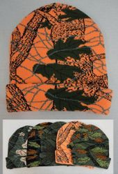 Wholesale Winter Hats WN684. Knitted Toboggan [Assorted Hardwoods Camo]