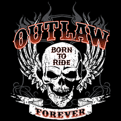 Wholesale Biker Outlaw Born to Ride Forever Clothing Apparel T-Shirts Suppliers Bulk Wholesalers Online - 21649ED2