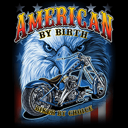 Wholesale Biker American by Birth Eagle Black Clothing Apparel T-Shirts Suppliers Bulk Wholesalers Online - 22642D1