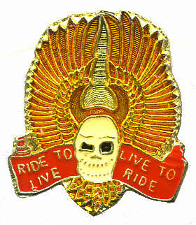 Wholesale Biker Ride to Live Hats Pins - PIN105  Biker
