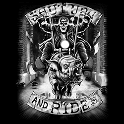 Plus Size Clothing, Shut up and Ride Motorcycle T Shirts - 15058ED0