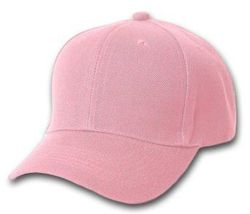 Breast Cancer Clothing, Solid Pink Ball Cap - HT153.