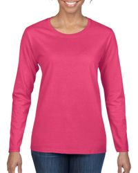 Wholesale Blank Long Sleeve T Shirts Bulk Supplier - 5400L_Heliconia