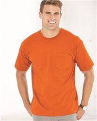 Wholesale Brand Name Clothing Apparel In Bulk Suppliers Boutiques - Bayside - USA-Made Short Sleeve T-Shirt With a Pocket - 5070