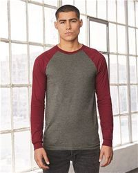 Wholesale Brand Name Clothing Apparel In Bulk Suppliers Boutiques - Bella + Canvas - Long Sleeve Jersey Baseball Tee - 3000