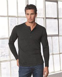 Wholesale Brand Name Clothing Apparel In Bulk Suppliers Boutiques - Bella + Canvas - Long Sleeve Jersey Henley - 3150
