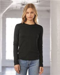 Wholesale Brand Name Clothing Apparel In Bulk Suppliers Boutiques - Bella + Canvas - Women's Long Sleeve Jersey Tee - 6500
