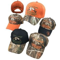 Party Toys Wholesale Hats Merchandise - HT2106. LIFE'S A GAME-HUNTING IS SERIOUS Ball Cap