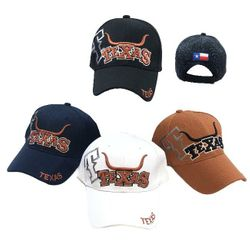 Wholesale Bulk Baseball Caps - HT2111. TEXAS Ball Cap