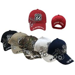 Wholesale Bulk Baseball Caps - HT2112. Route 66 Ball Cap [Shadow]-The Mother Road