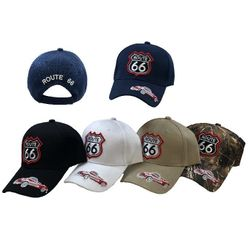 Wholesale Bulk Baseball Caps - HT2113. Route 66 Ball Cap [Sports Car]