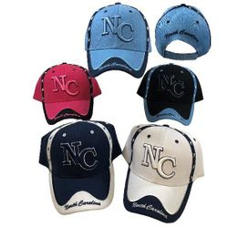 Wholesale Bulk Baseball Caps - HT3113. NC [North Carolina] Ball Cap [NC Trim]