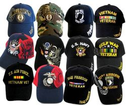 Wholesale Military Apparel MIX - Army, Navy, Air Force, Hats For Men - Embroidered Caps Bulk Suppliers - MSC Distributors
