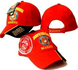 Retired Marine Wholesale Bulk Suppliers - ECAP407Red - B. Military Embroidered Cap