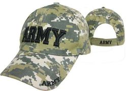 Army Camo Wholesale Bulk Suppliers - ECAP459b. Military Embroidered Acrylic Cap