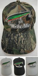 MSC Distributors : Funny Fishing Men's Hats Wholesale Bulk Supplier - HT658. BITE ME Hat [Fishing Lure]