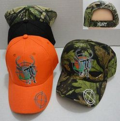 Hunting Hats for Men Wholesale - HT717. Hunter with Gun Hat [Deer in Crosshairs]