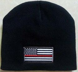 Wholesale Military Products - WIN650 Thin Red Line Flag Beanie