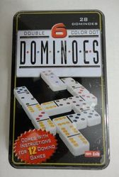 Party Toys Wholesale Merchandise Suppliers - Party Supplies - Kids Toys Games - TY160. 28pc Domino Set in Metal Tin