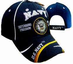 Navy Defending Freedom Wholesale Bulk Suppliers - ECAP497b. Military Embroidered Acrylic Caps