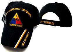 US Army 2nd Armored Division Wholesale Bulk Suppliers - ECAP512b. Military Embroidered Acrylic Caps