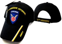 US Army 11th Airborne Division Wholesale Bulk Suppliers - ECAP513b. Military Embroidered Acrylic Caps