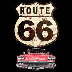 Wholesale Men's Women's American Route 66 Car T Shirts - 21896HD2