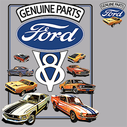 Wholesale Men's Women's Ford Car T Shirts - 22000HD2