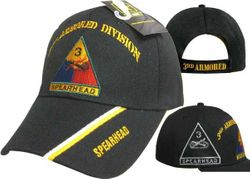 MSC Distributors : Bulk Caps Hats Supplier Wholesale Military Embroidered American USA - CAP571 3rd Armored Division