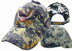 Military Hats Caps Wholesale Licensed Supplier Bulk Massachusetts - CAP602SC Navy Eagle Anchor Shadow Cap Camo