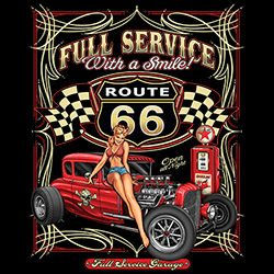 Wholesale Classic Car Route 66 Clothing Officially Licensed T Shirts - 22667HD2