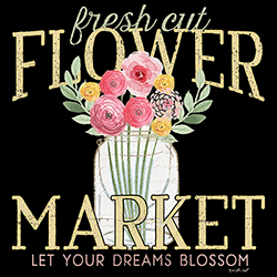Wholesale Country Flower Market Graphic T Shirts Discount for Men Women Suppliers Distributors - 22133HD2