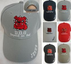 Wholesale Dog Hats Caps - Dog Wholesalers - Dog T Shirts - HT779. D.O.G. [Depend On God] Ball Cap