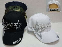 Wholesale Baseball Caps Hats Cheap in Bulk Supplier - HT374. DALLAS Hat with Two Stars