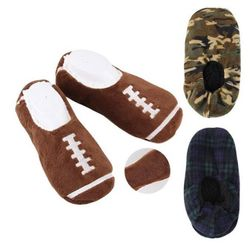 Military World Clothing Distributors - Bulk Socks Wholesale Socks Slippers Merchandise Suppliers - WN16024. Mens House Camo Football Slippers [Assorted Styles]