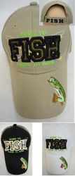 wholesale fishing hats - BORN TO FISH FORCED TO WORK Hat [Fish on Bill]